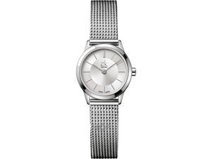 Women's Calvin Klein ck Minimal Mesh Band Watch K3M23126