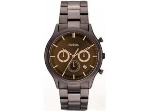 Fossil Men's FS4670 Brown Stainless-Steel Quartz Watch with Brown Dial