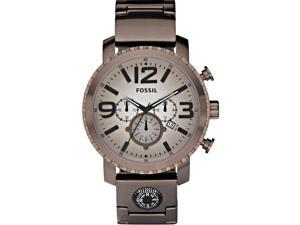 Fossil Gage Chronograph Brown Ion-plated Mens Watch Brown JR1302
