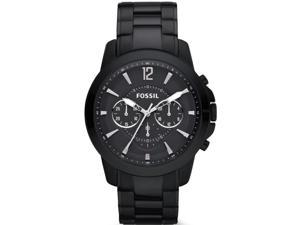 Fossil Men's Grant FS4723 Black Stainless-Steel Quartz Watch with Black Dial