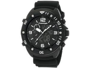 Freestyle Men's Dive FS85008 Black Polyurethane Quartz Watch with Black Dial
