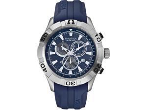 Nautica Men's N18626G Blue Resin Quartz Watch with Blue Dial