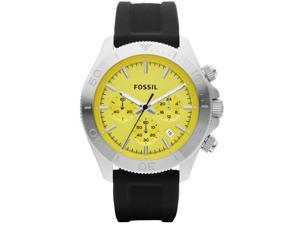 Men's Yellow Fossil Retro Traveler Chronograph Watch CH2852