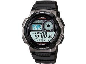 Casio Illuminator World Time Digital Grey Dial Men's watch #AE1000W-1BV