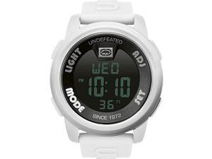 Marc Ecko Men's E07503G2 White Resin Quartz Watch with Black Dial