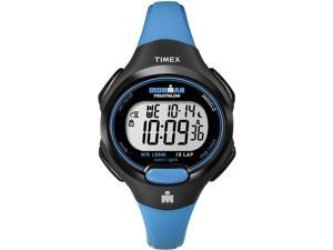 Timex Women's Ironman T5K526 Blue Resin Quartz Watch with Silver Dial