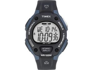 Timex Men's T5H591 Black Polyurethane Quartz Watch with Grey Dial