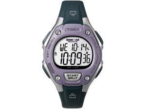 Timex Women's Ironman T5K410 Blue Resin Quartz Watch with Silver Dial
