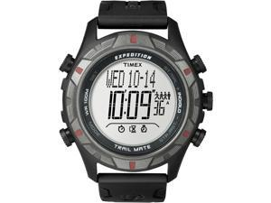 Timex Men's T49845 Black Resin Quartz Watch with Digital Dial