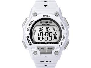 Timex T5K429 IRONMAN 30-Lap Shock White Case and Resin Strap Sports Watch