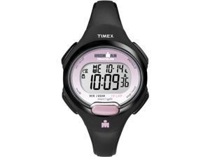 Timex Women's Ironman T5K522 Black Resin Quartz Watch with White Dial