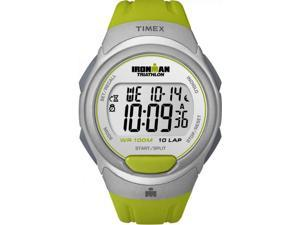 Timex Men's Ironman T5K612 Green Resin Quartz Watch with Digital Dial
