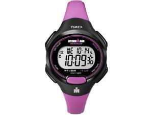 Timex Women's Ironman T5K525 Pink Resin Quartz Watch with Silver Dial