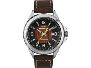 Timex Men's Dakota Rugged Metal T49908 Brown Leather Quartz Watch with Brown Dial