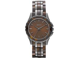 Women's Two Tone DKNY Brooklyn Tortoise Watch NY8701