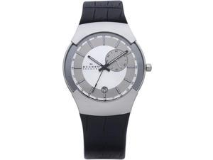 Skagen Swiss Black Label GMT Dual Time Silver Dial Men's watch #983XLSLBC