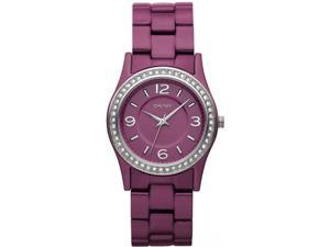 DKNY CRYSTAL PINK ALUMINUM 50M LADIES WATCH