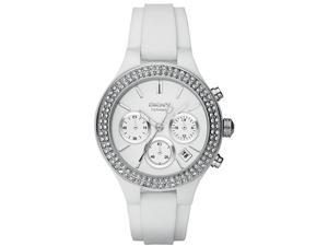 DKNY White Ceramic Chronograph Ladies Watch NY8184