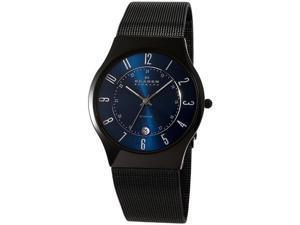 Skagen Titanium Mesh Strap Marine Blue Dial Men's watch #T233XLTMN