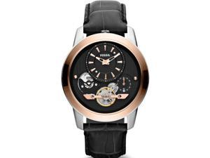Fossil Grant Black Leather Automatic Mens Watch ME1125