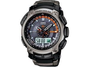Casio PAW5000-1 Men's Pathfinder Solar Power Atomic Black Resin Watch