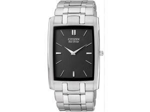 Citizen Eco-Drive Stiletto Black Dial Men's watch #AR3030-50E
