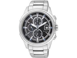 Men's Citizen Eco-Drive Chronograph Steel Watch CA0370-54E