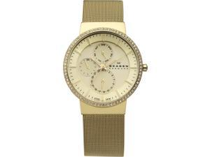 Women's Skagen Gold Tone Multifunction Glitz Watch 357XLGG