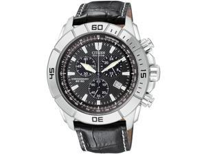 Citizen Eco Drive Black Chronograph Dial Sport Mens Watch AT0810-12E