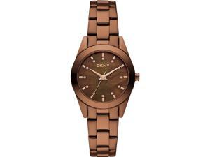 Women's Brown DKNY Glitz Steel Watch NY8621