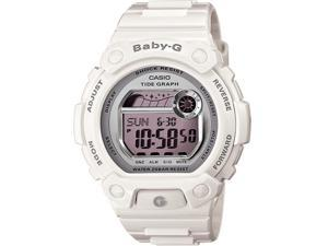Casio Women's Baby-G BLX103-7 White Resin Quartz Watch with Digital Dial