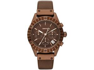 Women's Brown DKNY Crystal Chronograph Watch NY8654