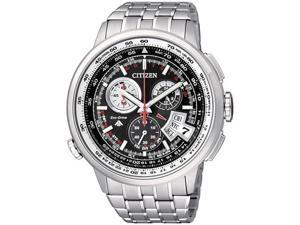 Citizen Men's Eco-Drive BY0010-52E Silver Titanium Eco-Drive Watch with Black Dial