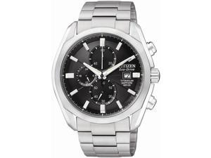 Citizen CA0020-56E Men's Eco-Drive Titanium Collection Chronograph Watch