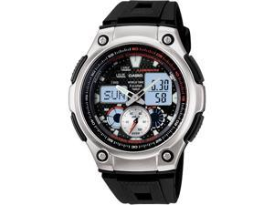 Casio Men's AQ190W-1AV Black Resin Quartz Watch with Black Dial