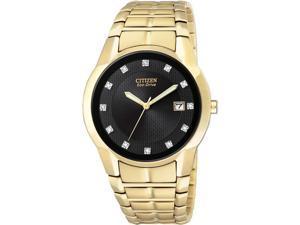 Citizen Eco-Drive Diamonds Black Dial Men's watch #BM6672-51G