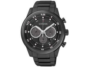 Men's Black Citizen Eco-Drive Chronograph Watch CA4035-57E