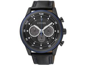 Men's Black Citizen Eco-Drive Chronograph Dress Watch CA4036-03E