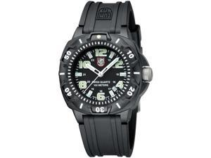 Luminox Men's SENTRY 0201.SL Black Rubber Quartz Watch with Black Dial