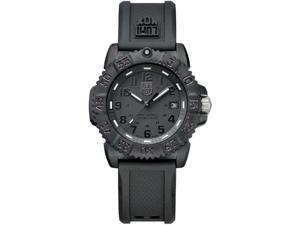 Luminox Women's 7051.BO Black Rubber Quartz Watch with Black Dial