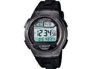 Casio Men's W734-1AV Black Resin Quartz Watch with Digital Dial