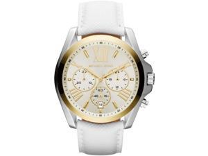 Women's White Michael Kors Bradshaw Chronograph Watch MK2282