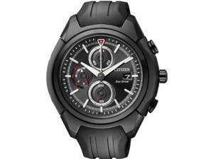 Men's Black Citizen Eco-Drive Chronograph Watch CA0285-01E