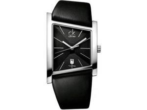 Calvin Klein Swiss Date Leather Band Mens Watch K0Q21107