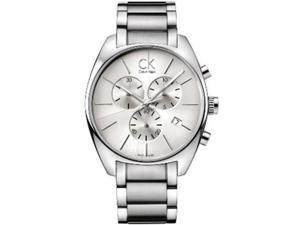 Calvin Klein Men's K2F27126 Silver Stainless-Steel Swiss Quartz Watch with Silver Dial