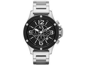 【A│X Armani Exchange】 重裝軍式風格計時腕錶-黑/48mm  (AX1501)