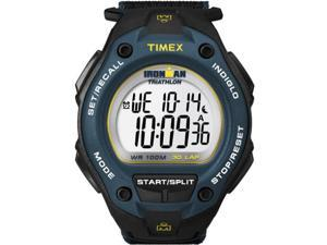 Timex Men's Ironman T5K413 Black Satin Quartz Watch with Silver Dial
