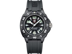 Luminox Men's SENTRY 0201.SL Black Rubber Quartz Watch with Black Dial
