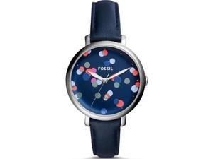 Women's Fossil Jacqueine Blue Leather Watch ES4103