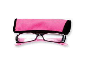 Pink Rhinestone 1.25 Magnification  Reading Glasses